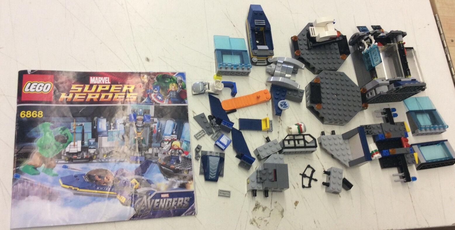 Lego Marvel Avengers 6868 Hulks Helicarrier Breakout Incomplete Set See Pics