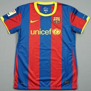 Fc Barcelona Jersey 2010 11 S Women Lady Camiseta Treble Barca Football Shirt Ebay