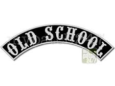 Aufnäher BikerPatch -OLD SCHOOL- Bogen oben 30cm gestickt TopRocker Kutte MC NEU