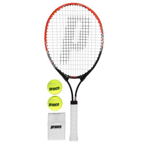 Prince Kids React Tennis Set Juniors Racket Zip Pattern