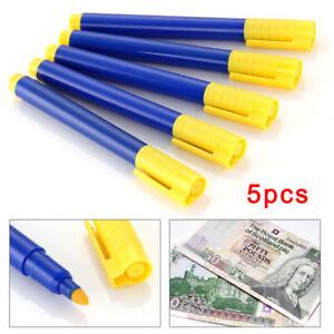 5PCS-Stylo-marqueur-detecteur-de-de-Banque-faux-billets