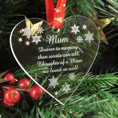 Engraved personalised Christmas snowman tree decoration in gift pouch LR84s