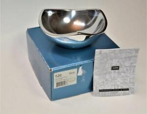 NIB-Nambre-Designer-sculptor-Richard-K-Thomas-Tri-corner-6-034-Metal-Bowl-526