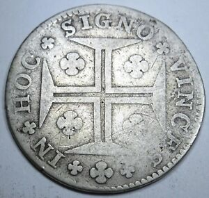 Portugal-1774-200-Reis-Key-Date-Coin-Antique-Rare-Old-Portuguese-Currency-Money