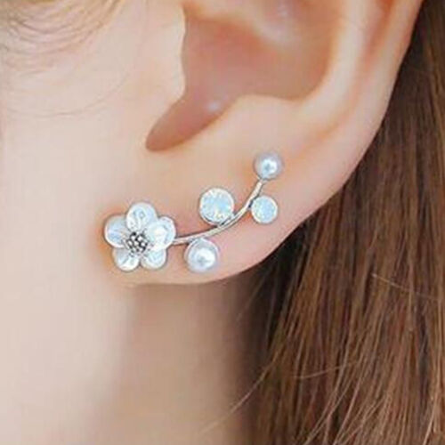 Branches Shell Unique Jewelry Accessories Imitation Earrings Flower Pearl Stud