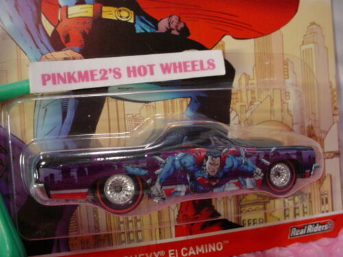 2016 DC Comics Hot Wheels Superman /'71 CHEVY EL CAMINO☆Real Riders☆Pop Culture