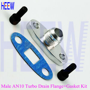 10AN-AN10-10AN-MALE-Turbo-Oil-DRAIN-OUTLET-Flange-Gasket-Adapter-Fitting-T3-T4