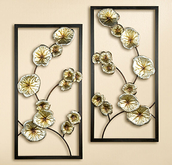Wanddeko Lotusblüte 80 cm (G69056) NEU Wandbild Wandobjekt