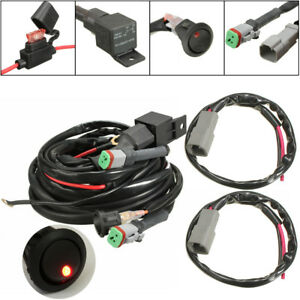 3m switch relay twin wiring harness set for led spotlights work image is loading 3m switch relay twin wiring harness set for