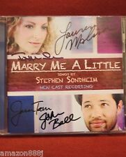 SIGNED*MARRY ME A LITTLE*CD BY CAST:LAUREN  MOLINA, JASON TAM, BELL, SILVERSTEIN