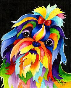 SHIH-TZU-8X10-DOG-Colorful-Print-from-Artist-Sherry-Shipley