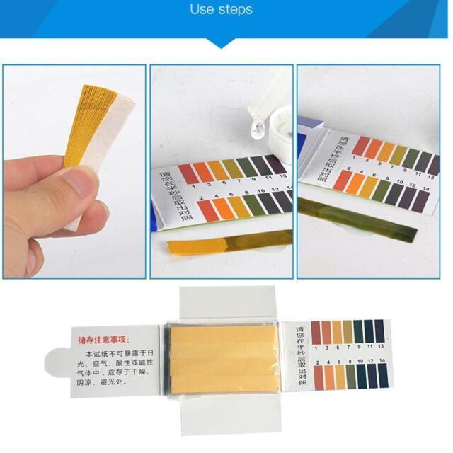 80 pH 1-14 Universal Full Range Litmus Test Paper Strips Tester Urine Indicator!