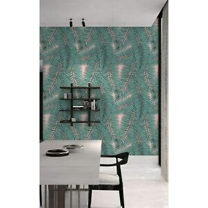 Non-Woven-wallpaper-Exotic-Leaf-Tropical-Floral-Floral-Leaves-Traditional-Mural
