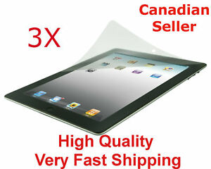 3-Clear-Screen-Protector-For-Apple-iPad-All-Models-Premium-Ultra-Transparent