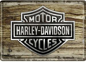 Nostalgic-Metal-Postcard-10x14cm-Motor-Cycles-Harley-Davidson