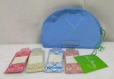 ddf25fa3f4cb Vera Bradley Preppy Poly Mini Cosmetic Makeup Bag Sky Blue 4 Lotion Samples