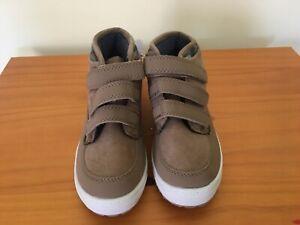 NWT OshKosh Tan High Top Sneakers shoes Boys 10,12
