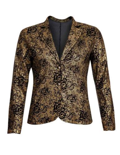 Cardigan Jacke 42 44 46 48 50 52 Barocker Blazer Sheego schwarz//gold Gr