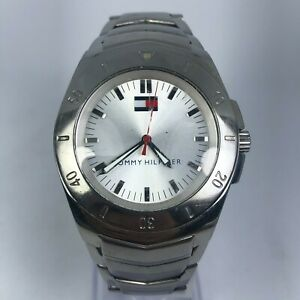 Tommy-Hilfiger-Mens-F90191-Silver-Tone-Stainless-Steel-Band-Wrist-Watch