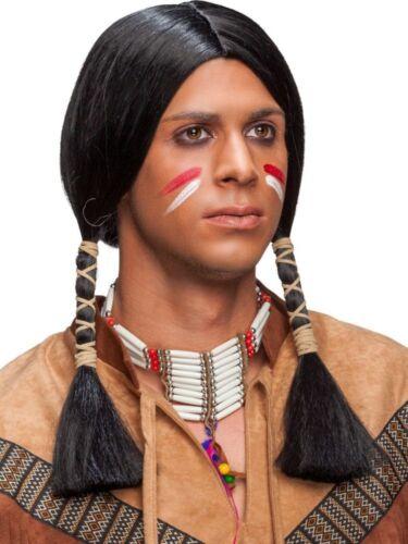 Herren Perücke Indianer Indianerperücke Karneval Fasching Orl