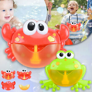 Crab-Frog-Bubble-Machine-Musical-Bubble-Maker-Bath-Baby-Kids-Toy-Bath-Shower-Fun