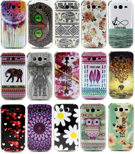 Rubber TPU Gel Silcone Paint Phone Case Cover For Samsung Galaxy Grand Neo i9060
