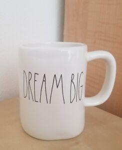 NEW-RAE-DUNN-by-Magenta-DREAM-BIG-Coffee-Tea-Mug-Graduation-Summer-Home-Decor