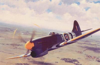 Hawker Tempest Aeroplane Fighter Aircraft Plane Blank Birthday Fathers Day Card