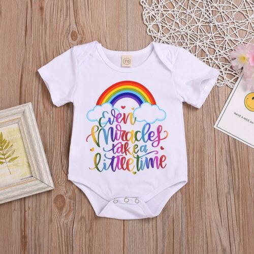 Infant Baby Girl Summer Cotton Romper Bodysuit Jumpsuit Outfit Sunsuit Clothes