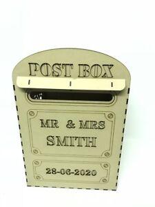 WISHING WELL Post Box PERSONALISED MDF Wedding Card Box