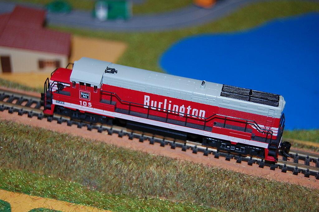 Locomotora KATO diésel americana BURLINGTON ROUTE 105 escala N