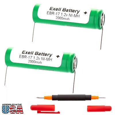 2x Razor Battery For Braun 2323 ,2500 ,2501 ,2505 ,2515 ,255, 260, 3510 , 3512 Een Brede Selectie Kleuren En Motieven
