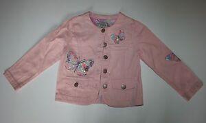Clothing, Shoes & Accessories Candid Neue Weiter Pink Jeansjacke Mit Schmetterling Applikationen Größe 4t 5t 110 Cm Girls' Clothing (newborn-5t)