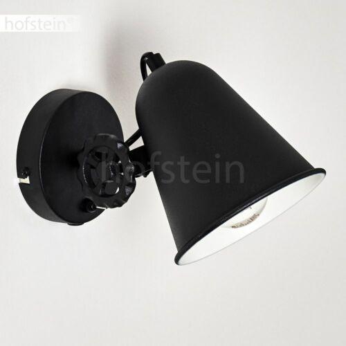 Vintage Schlaf Wohn Zimmer Beleuchtung schwarz Wand Lampe Schalter Flur Strahler