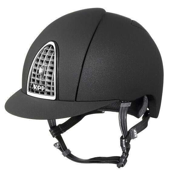 KEP Italia (large Shell) Mica Cromo negro helmet