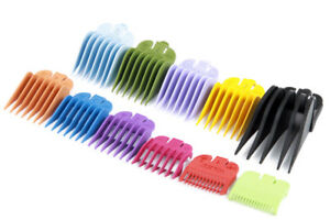 Wahl-Hair-Clippers-Comb-Attachment-Guides-Coloured-No-0-5-1-2-3-4-5-6-7-8-12