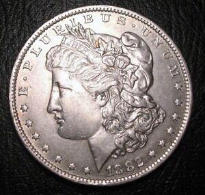 OLD-US-COINS-1882-O-O-Morgan-Dollar-Rare-Key-Date-US-Silver-Beauty
