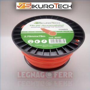Ricambio-Decespugliatore-Filo-Tondo-2-7-mm-Universale-Bobina-79-Metri-SIkurotech