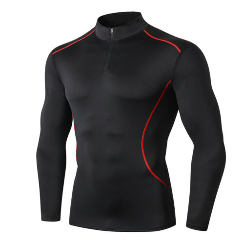 Men/'s Workout Dry Fit Compression T-Shirt Long-Sleeve Athletic Gym Baselayer Tee