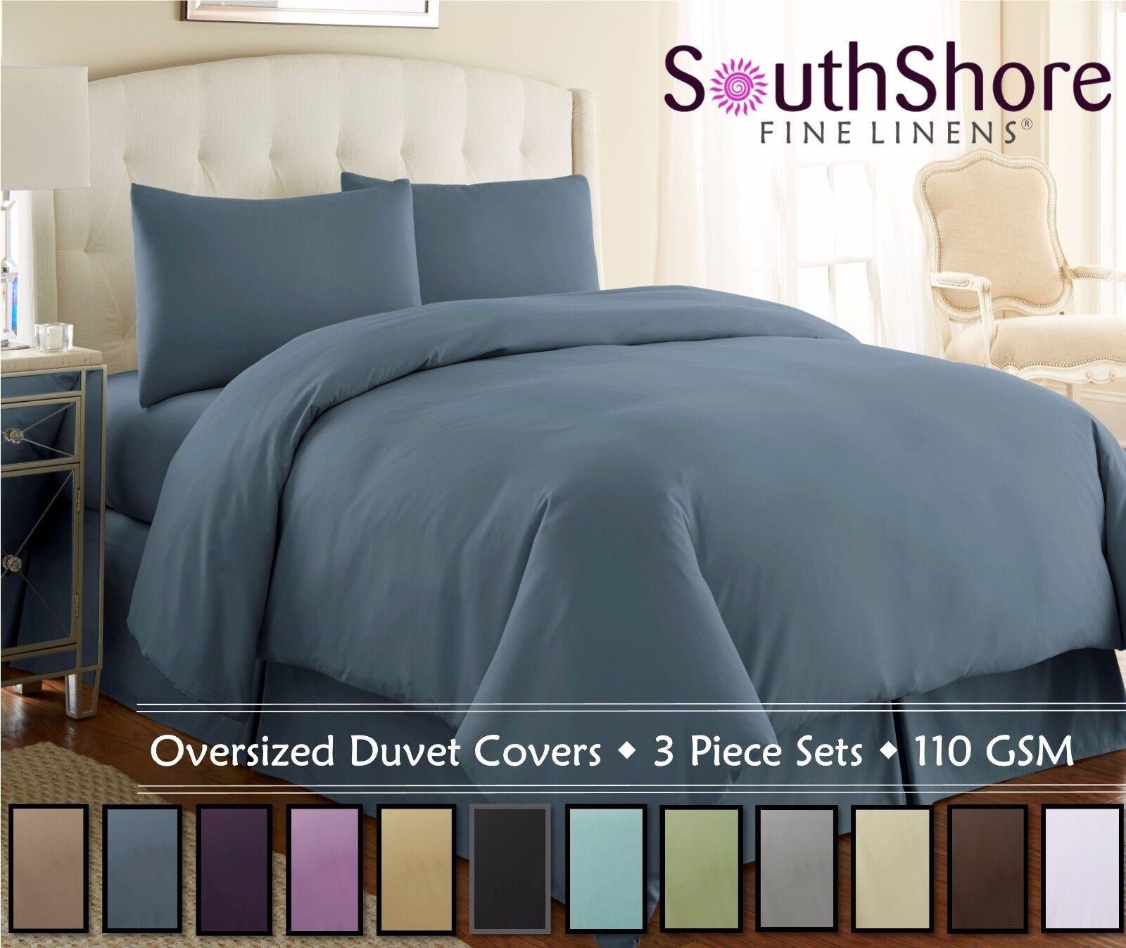Vilano Springs Solid color 3-Piece Duvet Cover Set by Southshore Fine Linens