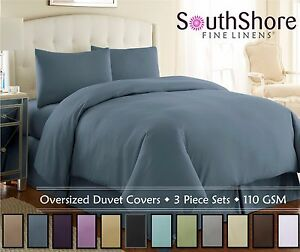 Image Is Loading Vilano Springs Solid Color 3 Piece Duvet Cover