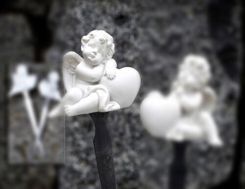 Glücksengel Schutzengel Stecker  Engel mit Herz Gartenstecker Blumenstecker