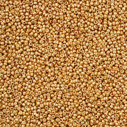 Miyuki Size 15//0 Round Seed Beads 15-982 Galvanised Gold 8.2g N15//1