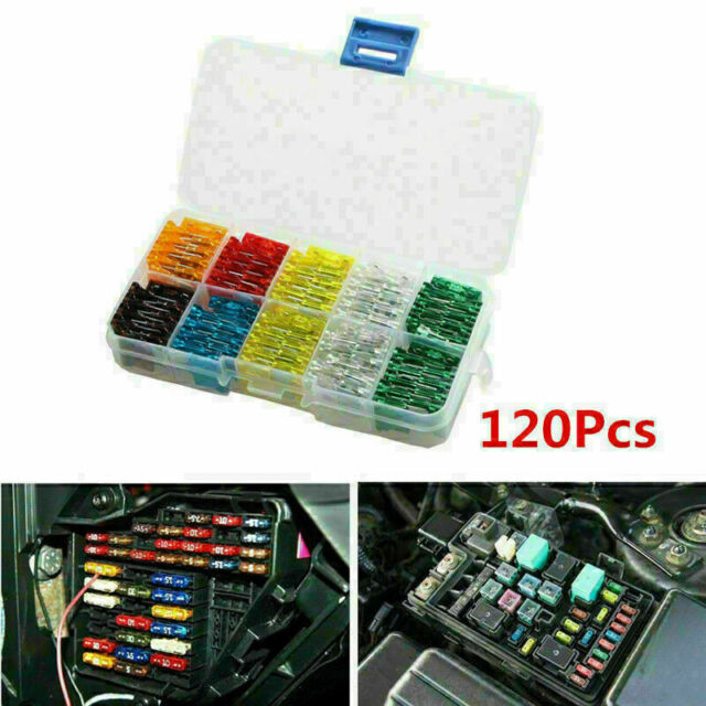 120x Car Suv Mini Blade Fuse 7 5 10 15 20 25 30 Amp Atm Apm Fuses Assortment Set