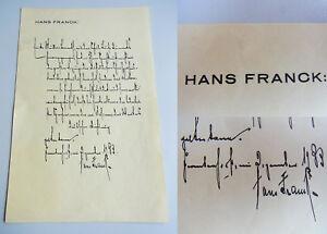 Dramaturg Hans FRANCK (1879-1964): Eh. Zeugnis 1933 für Erika MÜLLER-BENRATH
