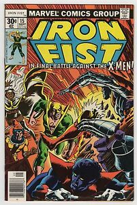 Iron Fist #15 Sep 1977 VF+ 8 5 Marvel X-Men 1st App