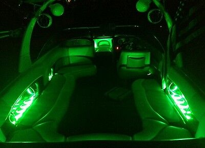 4pc set RGB LED Cup Holder light Ring Boats//RV MasterCraft, Moomba, Malibu