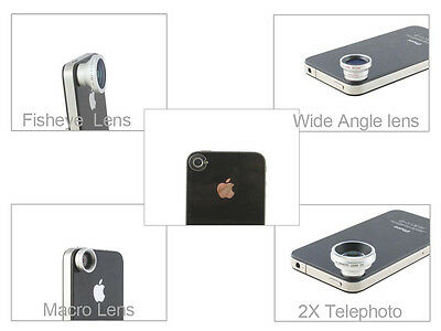 Magnetic 190° Fish Eye Lens for iPhone 5 iPhone 4S iPhone 4 iPad 2 iPad 3rd Gen