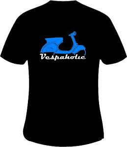 Vespa-Scooter-Vespaholic-Mods-Scooter-Motorcycle-Printed-T-Shirt-in-6-Sizes