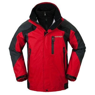 New Men Three Layer Windstoper Waterproof Ski Snowboard 3in1 Outdoor Jacket Coat